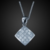 Princess Cut Pendant in 18K White Gold image