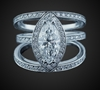 Pave-Set Marquise in 18K White Gold image