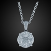 Marquise, Princess & Baguette Pendant in 18K White Gold image