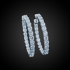 Diamond Hoop Earrings in 18K White Gold image