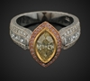 Marquise, Princess & Round Diamonds in 18K Tri Color Gold image