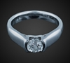 Solitaire in 18K White Gold image