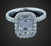 Emerald Cut Solitaire in 18K White Gold image